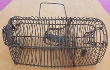Antique 19th C Wire Form Mouse Trap - Hard to Find Smaller Size in Working Order