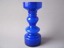 Friedrich Glas Vase 70er Jahre Design kobaltblau weiss Opalglas Carnaby Glass