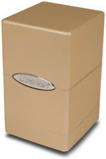 Metallic Satin Tower Deck Box - Caramel Ultra Pro GAMING SUPPLY BRAND NEW