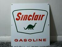 VINTAGE SINCLAIR PORCELAIN SIGN GAS MOTOR OIL CAN STATION PUMP DINO GASOLINE AD