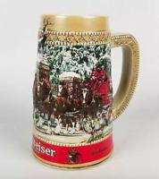 """Budweiser Anheuser-Busch C Series Clydesdales Beer Stein Ceramarte 6.5"""""""