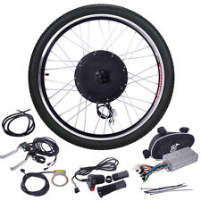 "48V Ebike 26""Cycling Electric Bicycle Motor Conversion hub Kit Front Wheel 1000W"