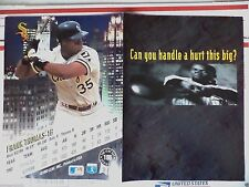 1993 FRANK THOMAS CHICAGO WHITE SOX MAGAZINE AD FOR LEAF BASEBALL CARDS 2-PAGE