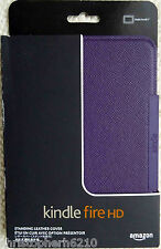 "Genuine Original Amazon Kindle Fire HD 7"" Premium Leather Cover Case - Purple"