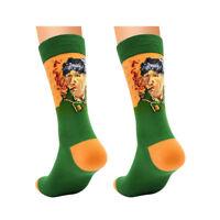 Famous Oil Painting Art Van Gogh Mural Painting Multicolor Long Cotton Socks