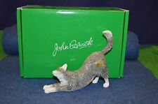 Lovely John Beswick ''Long Haired Cat Stretching'' Figurine JBC43 USC RD6425