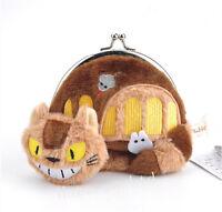 Studio Ghibli My Neighbor Totoro Cat Bus Plush Coin Purse Bag Gift