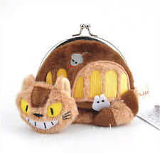 Anime My Neighbor Totoro Cat Bus Plush Coin Bag Purse Wallet