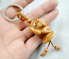 33*31MM Hand-carved Sword of monkey  Wooden Crafts, Key Chain, Key Ring R5