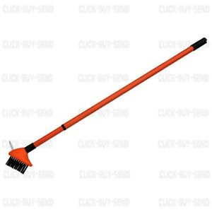 TELESCOPIC PATIO CLEANING WIRE BRUSH BLOCK PAVING WEED SCRAPER RAKE SPIKE GARDEN