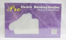Electric Heated Booties Feet Warmers Spa Paraffin Pedicure Foot Care Treatment