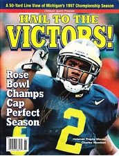 CHARLES WOODSON RP SIGNED 8X10 MICHIGAN HAIL TO VICTORS MAGAZINE