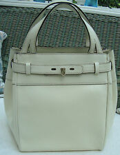 AUTH VALEXTRA B-CUBE TOTE in WHITE LEATHER - BAG