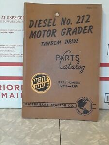 CAT Caterpillar 212 Diesel Engine Motor Grader Parts Manual Book SN 9T1 & up