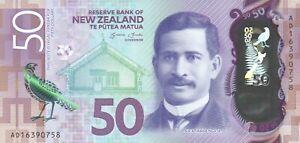 50 new zealand dollars 2016 unc