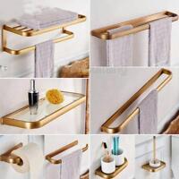 Antique Brass Bathroom Accessories Bath Towel Shelf Towel Bar Paper Holder Pxz04