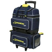 Storm 4 Ball Streamline Bowling Bag Navy Gray Yellow Fast Shipping