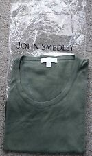 John Smedley Sea Island Ladies top  size XS.  NWOT Olive Green