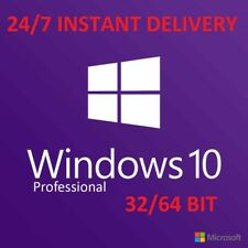 Windows 10 Pro 32/64 bit Win 10 OEM Genuine Licence Original Clé d'activation