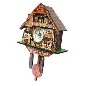 Retro Style    Plastic Cuckoo Coo Living Room Rocking Wall Clock