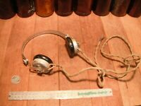 A Vintage Military Headset Radio WW2 Army Headphones Bakelite D↑D
