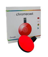 Google Chromecast Streaming Player 2. Gen HDMI Media Player Rot