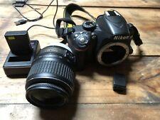 Nikon D3200 24.2MP Digital SLR Camera - Black Kit w/  DX 18-55mm Lens Bluetooth