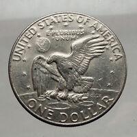 1978  President Eisenhower Apollo 11 Moon Landing Dollar USA Coin Denver  i46234