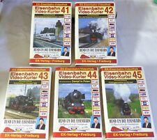 """VHS ferrocarril video-mensajero - 5 gastos"""" 41-45"""" - contenido ver fotos-Top-en su embalaje original"""
