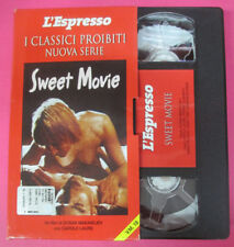 VHS film SWEET MOVIE Carole Laure Dusan Makavejev L'ESPRESSO (F181) no dvd