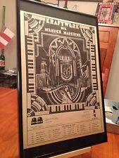 "BIG 11X17 FRAMED KRAFTWERK ""MAN MACHINE"" LP ALBUM CD PROMO AD w/ 1975 TOUR DATES"