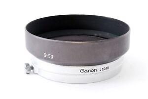 Quasi Mint Canon S-50 Metallo Paraluce Per 50mm F/1.4 Leica L39 L Supporto Da