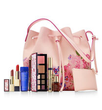Estee Lauder WILD BLOSSOMS 8 PC Makeup & Purse *LIMITED EDITION* 4 FULL SIZE New