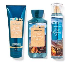 Bath & Body Works Crisp Morning Air 3 Piece Set - Cream, Shower Gel, Mist