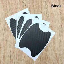 4pcs Carbon Fiber Style Car Door Handle Anti-Scratch Protective Stickers Black