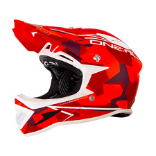 O 'Neal Warp Fullface Casco downhill FR DIRT ONEAL taglia S Camo Red