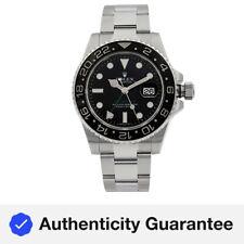 Rolex Gmt-master II Dial Negro de Acero Inoxidable Reloj Para hombres Automático 116710N