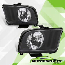 For 2005-2009 Ford Mustang Black Factory Style Headlights Set 2006 2007 2008