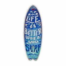 Bondi Blechschild 23 5x74 5 Cm blau Retro Vintage Surfbrett mit Haken