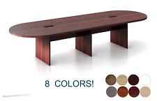 12 Ft Foot Racetrack Oval Conference Table Has Grommets For Wires Power 8 Colors