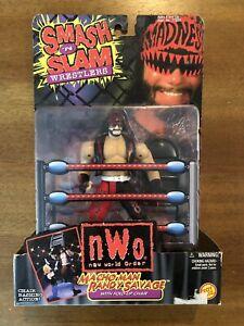 WCW NWO Toybiz Macho Man Randy Savage Smash N Slam Figure WWE Mattel Elite