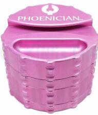 Phoenician Engineering - 4 Piece Herb Grinder - Large w/ Paper Holder - Pink