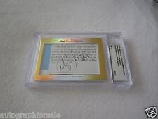 Allen Iverson & John Thompson 2014 Leaf Masterpiece Cut Signature 1/1 Georgetown