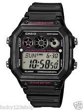 AE-1300WH-1A2 Japan Movt New Casio Watch 10-Year Battery World Time Resin Band