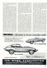 1961 Jaguar XK-E XKE Momo - Classic Vintage Car Advertisement Ad J35