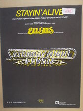 song sheet STAYIN ALIVE Bee Gees 1977 Saturday Night Fever