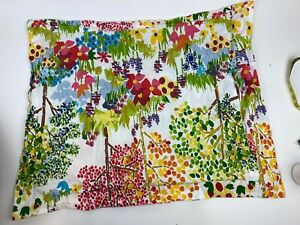 POTTERY BARN Pillow Sham Woodland Paint by Numbers Nature Floral Trees Case