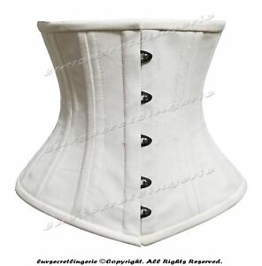 Heavy Duty 26 Double Steel Boned Waist Training Cotton Underbust Shaper Corset