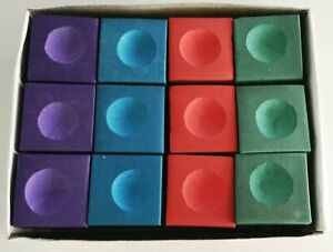 Pool  Snooker Chalk Cue 12 box Tournament  BLUE GREEN RED PURPLE or MIXED Chalk
