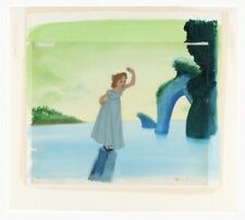 Walt Disney Peter Pan Wendy Original Production Cel With The Original Background